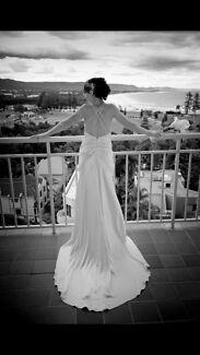 Stunning backless wedding dress