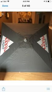 Beer logo patio umbrellas new $50 each !
