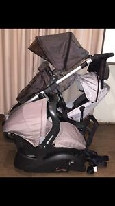 Steelcraft Strider 4 Pram Plus Capsule / Baby Car Seat Twin Double Guc Morphett Vale Morphett Vale Area Preview