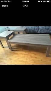 Coffee table, with 2 side tables