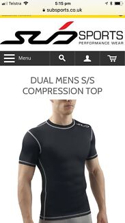 Sub brand M short sleeve top - compression style