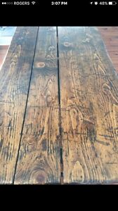 Rustic harvest kitchen table