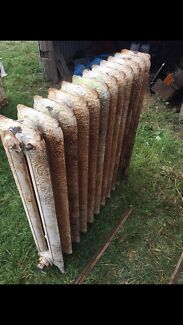 Antique art-deco hydronic cast iron water heaters