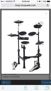 Roland TD 4 electronic drum set