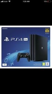 Ps4 Pro 1TB sealed in box