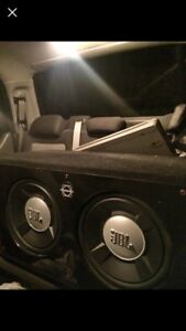 2 12 INCH JBL SUBS IN BASSWORX PORTED BOX WITH AMP & CAP