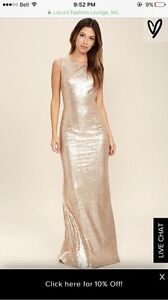 Matte Rose-gold Gown