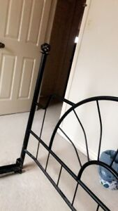Iron bed with mattress and boxspring