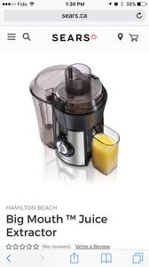 Hamilton Beach Stainless Steel Big Mouth Juice Extractor
