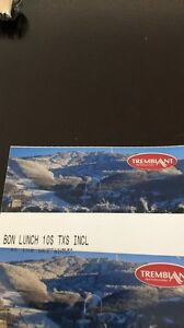 2 Tremblant ski tickets and lunch vouchers