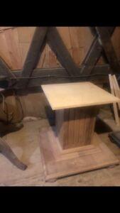 Solid Cedar Table Base