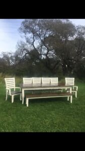Harvest table dining set for 10–12 People