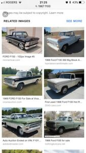 1967-1972 Ford F100 Parts Wanted