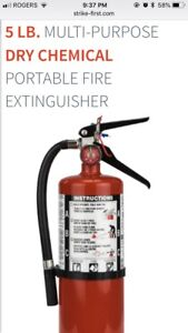 New 5lb. ABC Strike First brand dry chemical fire extinguisher