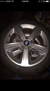 Bmw summer tires on rims 80%