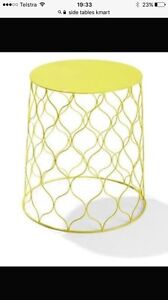 WANTED wire side table (yellow or green) Canning Vale Canning Area Preview