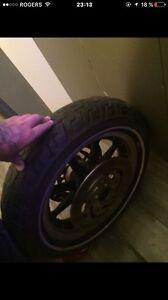 Roue flhx avec pneu et disque
