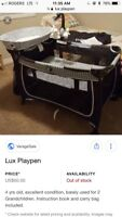 Lux play n play- play pen / changing table/ crib