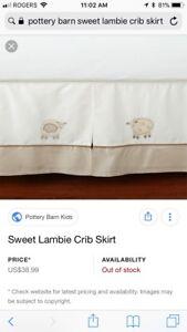 Pottery Barn Sweet Lambie Crib Skirt