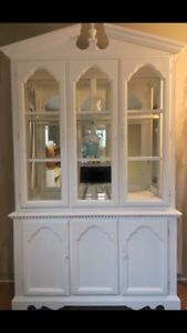 White Chalk Painted Hutch