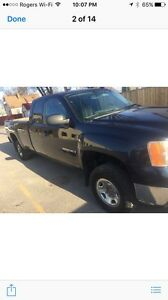 2008 2500hd GMC with boss plow straight blade