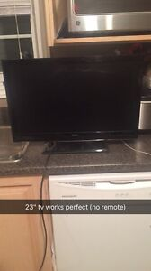 "23"" tv works perfect"