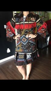 Aboriginal costume coat fur accents stunning