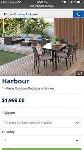14 piece outdoor wicker package Lathlain Victoria Park Area Preview