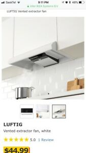 IKEA LUFTIG Vented extractor fan for $40