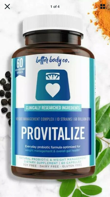 Provitalize Probiotic Formula For Weight Management. Better Body Co