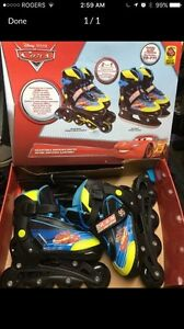 Disney 2 n1 ice skates and roller blades youth size 8-11