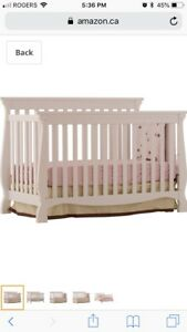 MOVING SALE:White 3in1 Crib - Todler/Daybed - Double bed