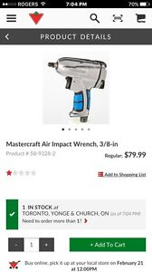 Mastercraft Air Impact Wrench 3/8-in