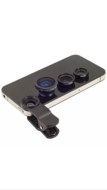 FishEYE Camera Universal 3 in1 Macro Wide Angle Lens for iPhone Samsung HTC