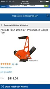 Paslode 2 in 1 pneumatic flooring tool brand new