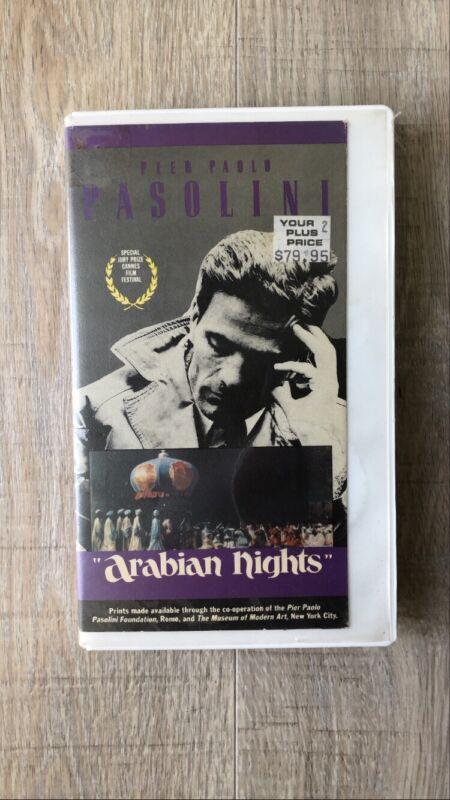 Pier Paolo Pasolini Arabian Nights original uncut version 1990 VHS Tape