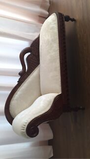 Hand carved baby love seat Belrose Warringah Area Preview