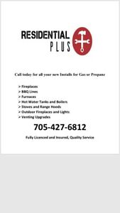 Gas and Propane installs