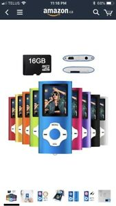 MP3 Music Player with 16GB SD card BRAND NEW