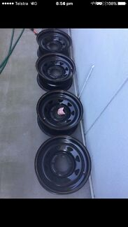 4x4 sunrayser rims 15 inch, to suit hilux, ranger, MAZDA