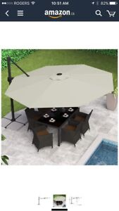 Deluxe Offset Patio Umbrella (Like new)