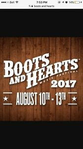 2017 Boots and Hearts ticket