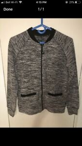 6dd23deef073 Roots salt and pepper zip up sweater jacket size small