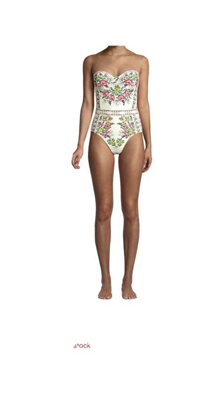 NWT Tory Burch Lipsi one-piece swimsuit, Small, Garden Veil Print