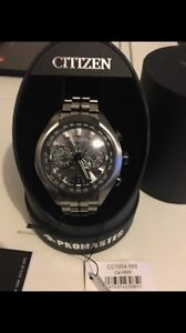 Citizen Mens Titanium Eco-Drive Satellite Wave Watch RRP $3000 Huntingdale Monash Area Preview