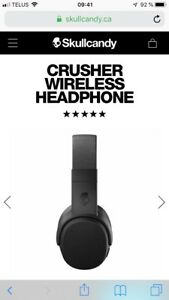 Écouteurs skull candy crusher 150$neuf boite pas ouverte !