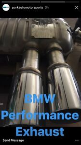Bmw e90 n52 M performance axle back exhaust brand new