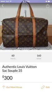 Authentic Louis Vuitton Sac Souple 35
