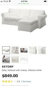 Ikea couch white