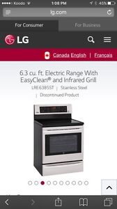 Lg Stove -glass-top convection - price reduced